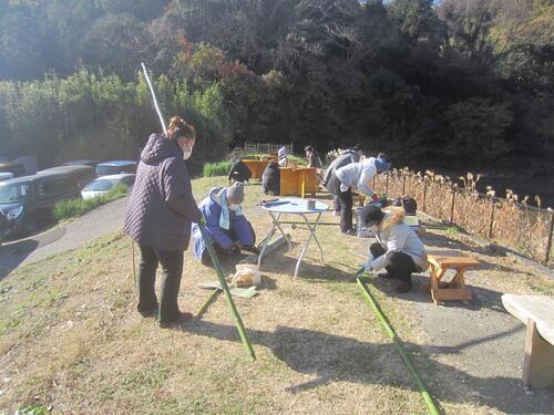 令和2年度自然体験会「里山の素材で門松づくり」